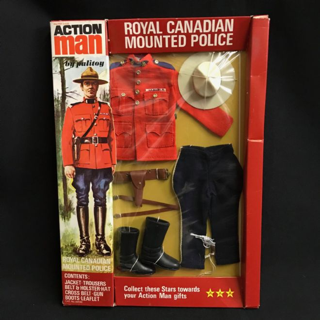 ACTION MAN - ROYAL CANADIAN MOUNTED POLICE - ULTRA RARE CARD
